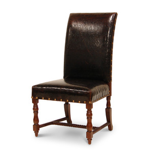 Beautiful embossed leather chairs.  Below wholesale cost at $666.00 each. 4 available.